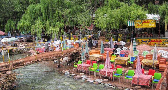 Restaurant Ourika Valley Atlas mountains