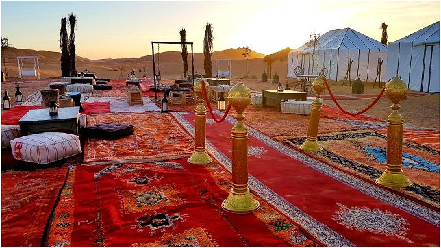 sahara desert camp in erg chebbi