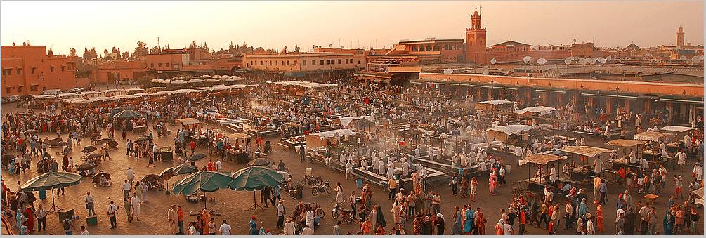 Marrakech highlights Jemaa El Fna square